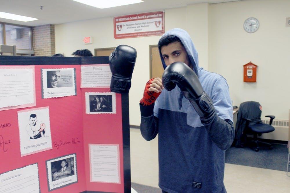 <p>Emran Ali takes a turn as boxing legend Muhammed Ali.</p>