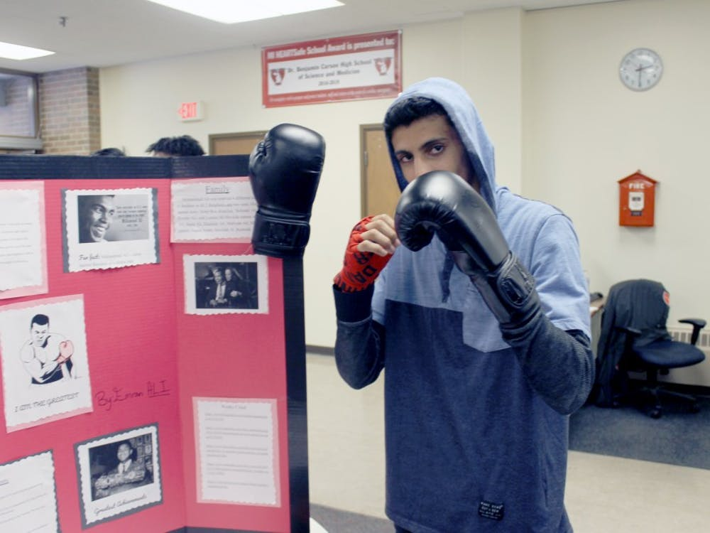 Emran Ali takes a turn as boxing legend Muhammed Ali.