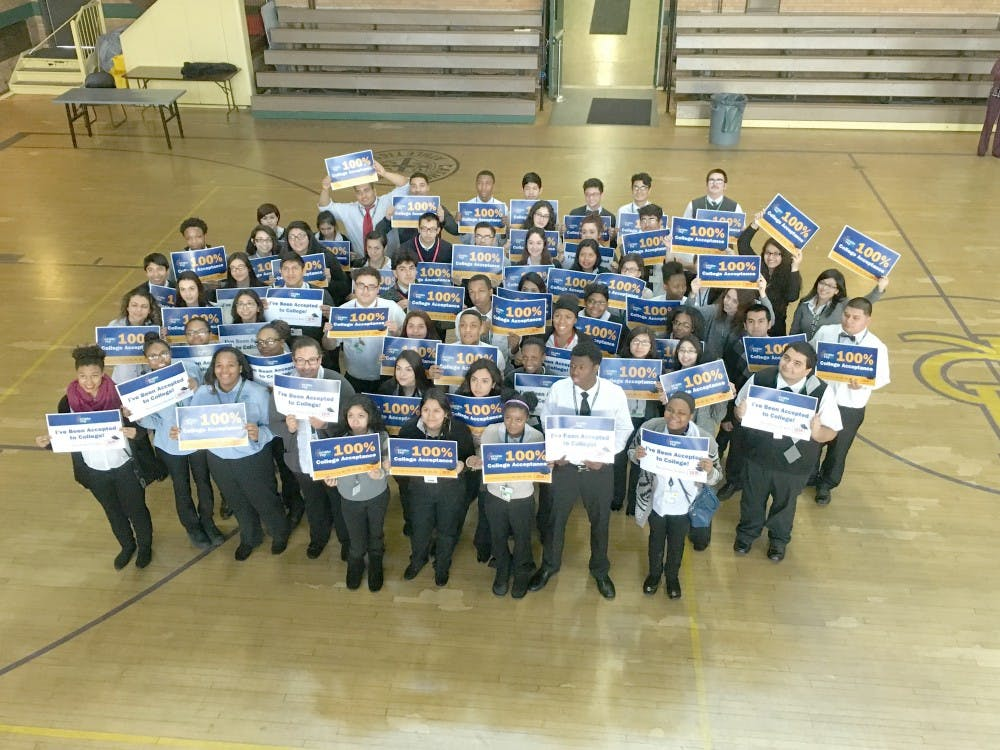 The Cristo Rey Class of 2016 has reached 100% college acceptance. It marks the fifth consecutive year that the high school has accomplished this feat.