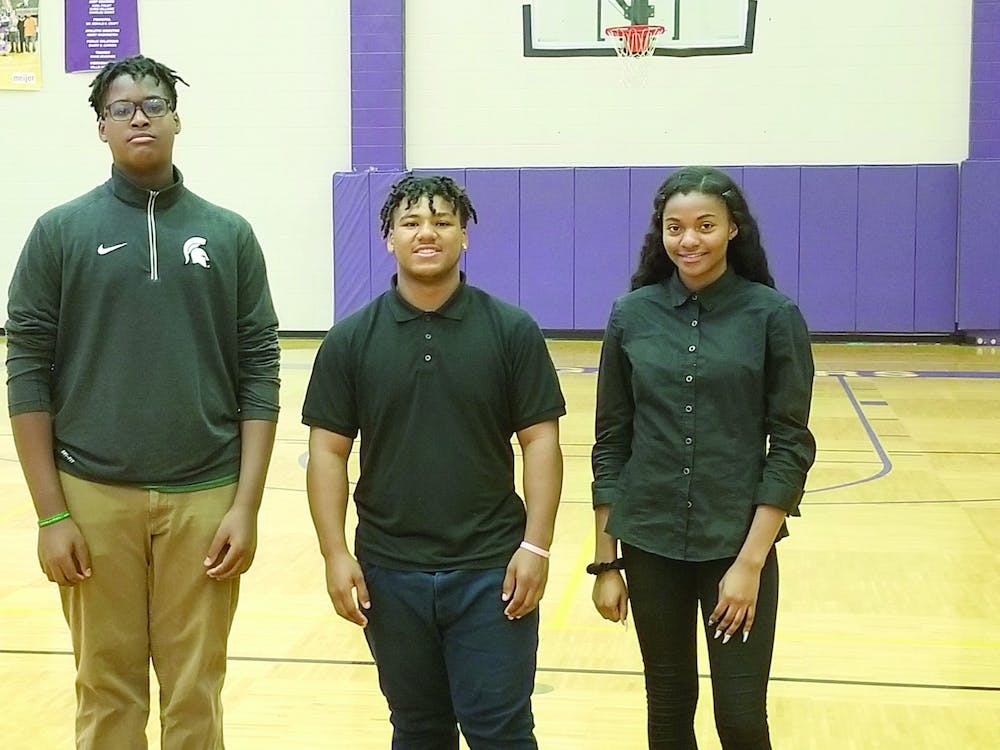 <p>Camren May, Kevin Hobson and Harmony Smith earned All-City honors: May and Hobson for football, and Smith for volleyball. Photo courtesy of Kevin Person.</p>