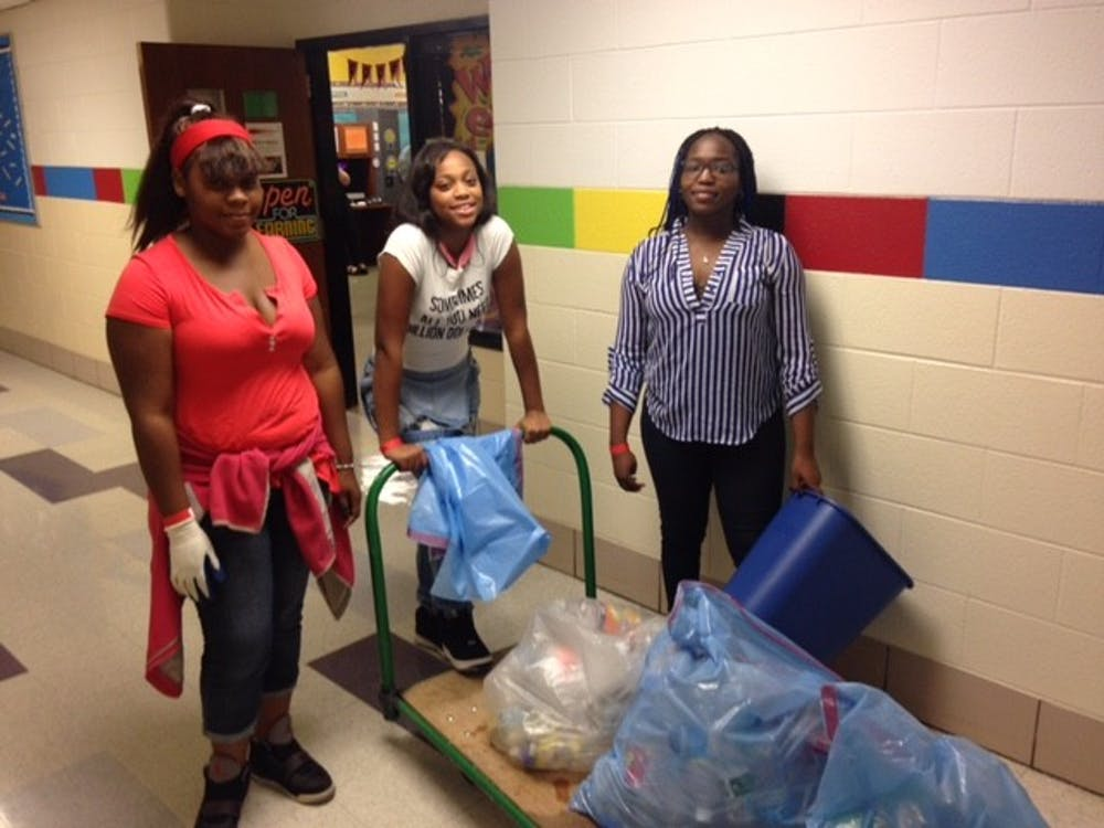 <p>Over the past four years, the Go Green! Team and the recycling team have worked together to make permanent changes in the way the school handles energy, conserve water and the recycling of products used in the school.</p>