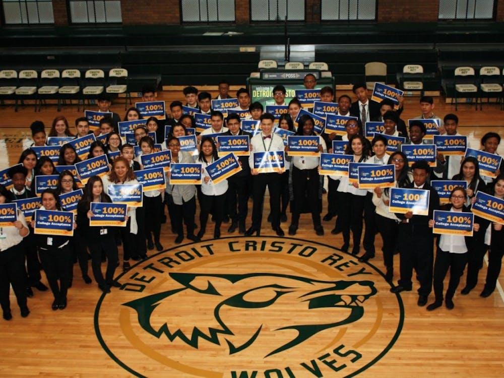 Cristo Rey celebrates 100% college acceptance for its seniors.