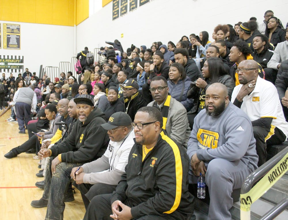 <p>Boys basketball teams receive more support than girls basketball teams. Attendance at girls basketball games is nothing like the attendance at boys basketball games, above.</p>