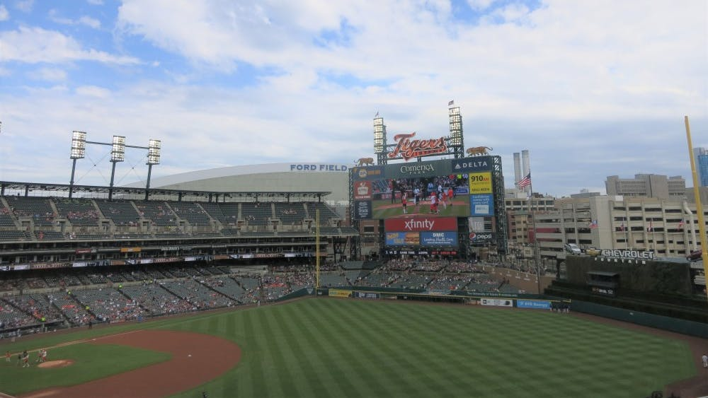 """Students from all over Metro Detroit participated in Journalism Day at Comerica Park on April 27. Journalism Day was part of the ballpark's """"Class Outside"""" series."""
