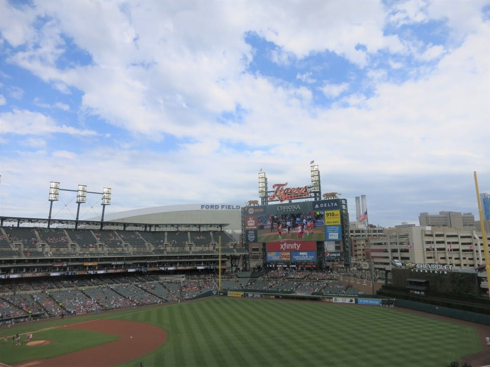 "Students from all over Metro Detroit participated in Journalism Day at Comerica Park on April 27. Journalism Day was part of the ballpark's ""Class Outside"" series."