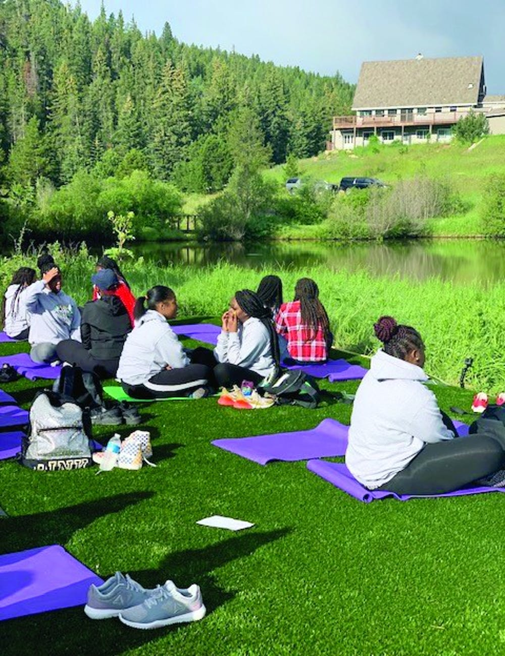 <p>At the Lincoln Hills Restoration Retreat, the young ladies work on self-preservation through yoga and other activities.</p>