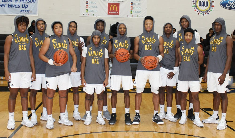 <p>King's boys varsity basketball team triumphs over opponents and hardships with guidance from head coach George Ward. Photo by Crusaders' Chronicle.</p>