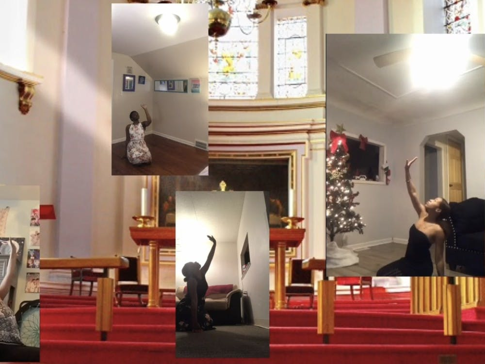 """Even though virtual, the Crusaders Dance Workshop performed """"Take Me Lord."""" Photo by Crusaders' Chronicle."""