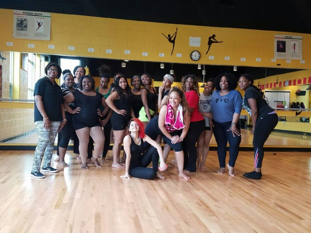 <p>East English Village dance teacher Rosalind Leath, who is also the Michigan Delegate for National Dance Week hosted a Dance Awareness Zumba class for staff, parents, students and the community on April 28.</p>
