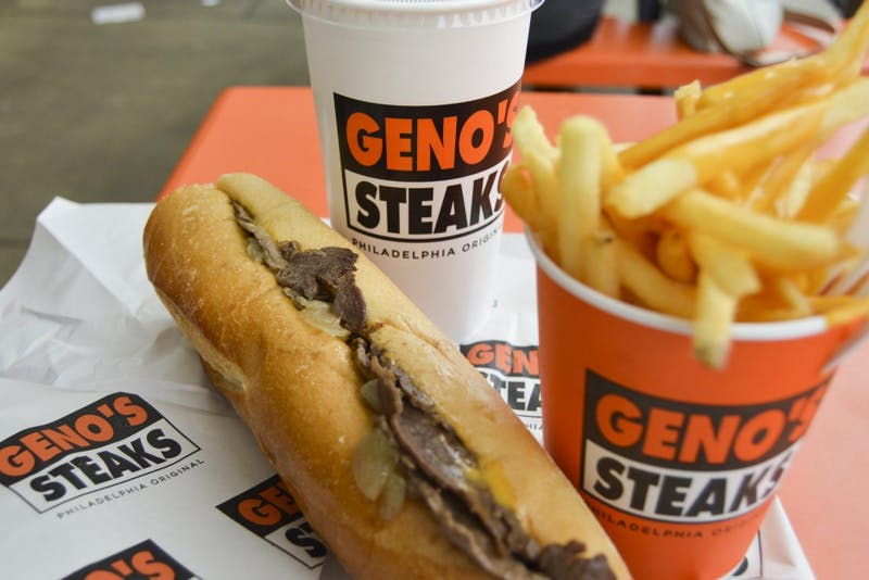 cheesesteak from geno's