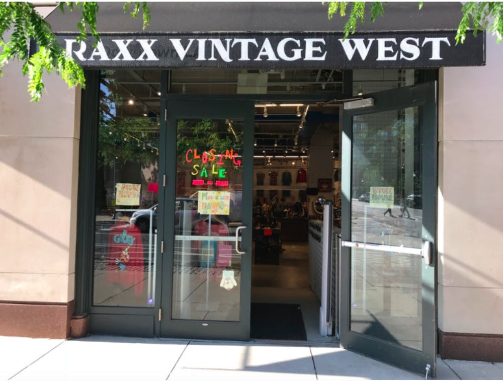 lululemon to replace now empty raxx vintage west storefront 34th