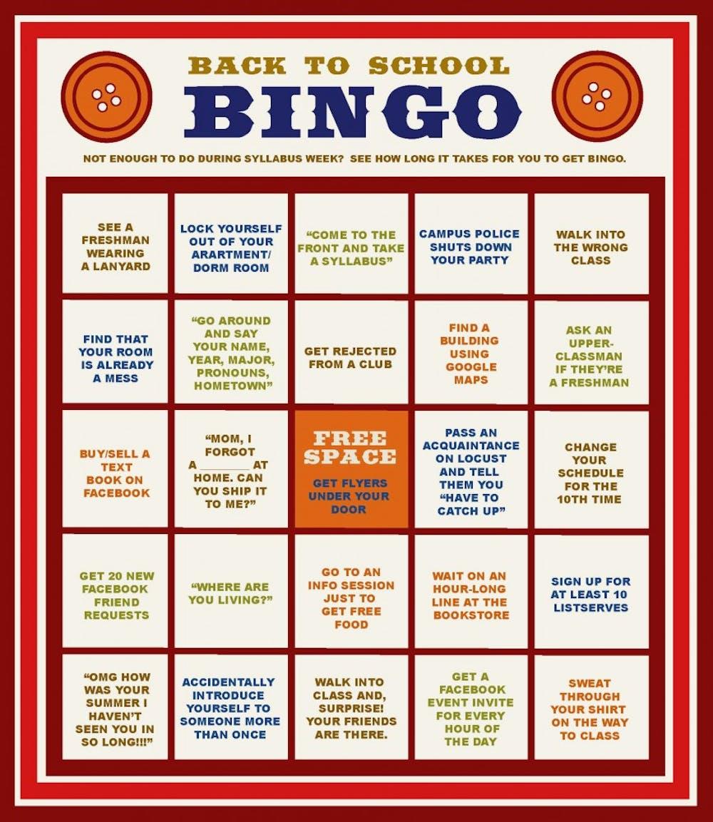 Back to School Bingo | 34th Street Magazine