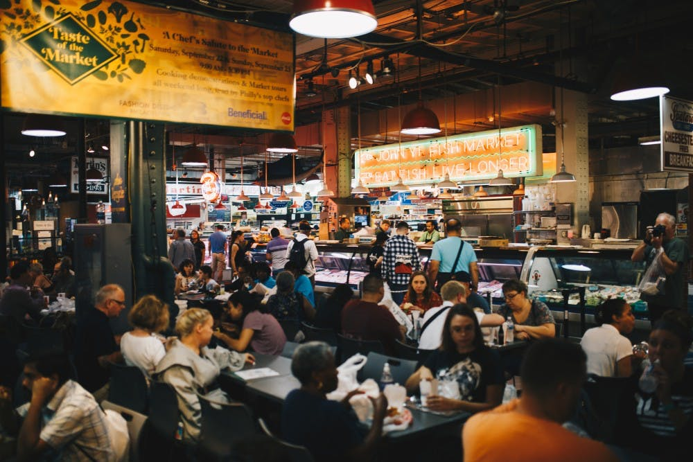 crowded reading terminal market