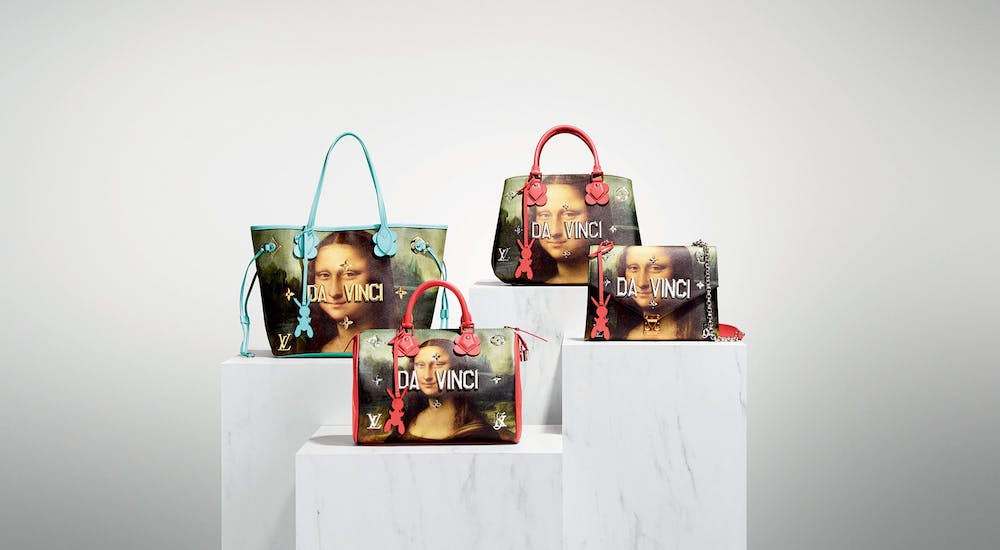 Louis Vuitton's x Jeff Koons Da Vinci items from the 'Masters' Collection