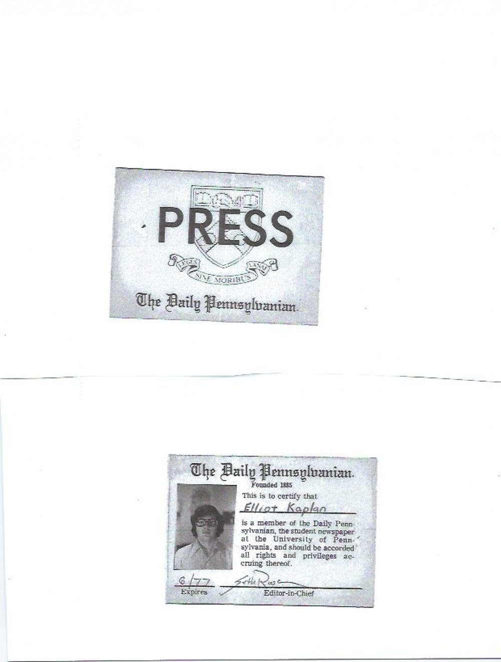 Eliot Kaplan Press Pass