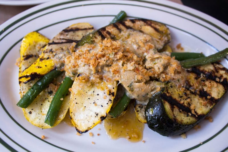 Summer squash and beans