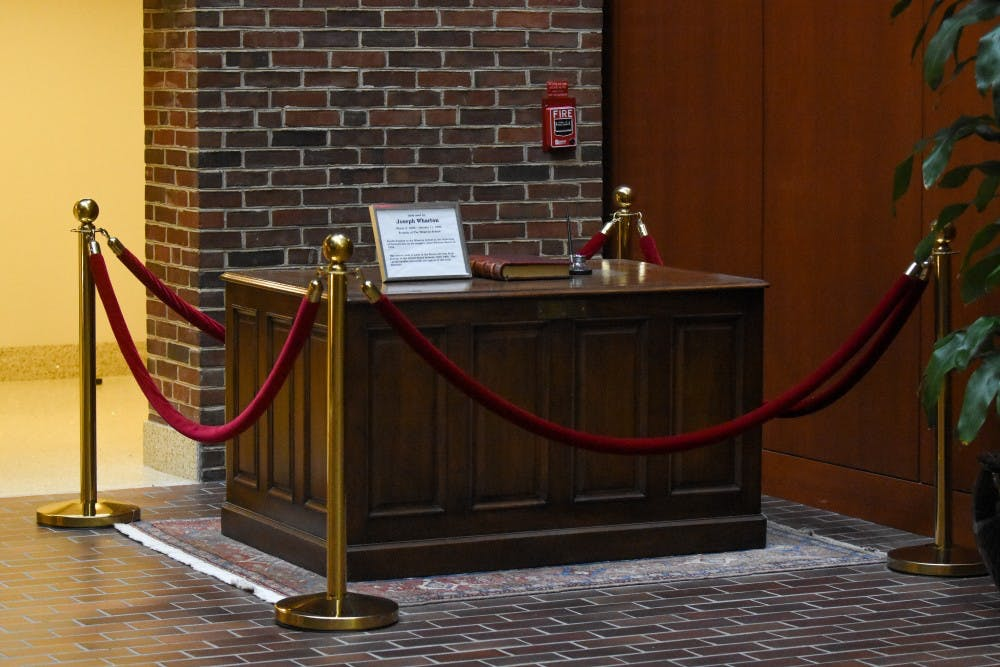 Wharton's Historic Desk