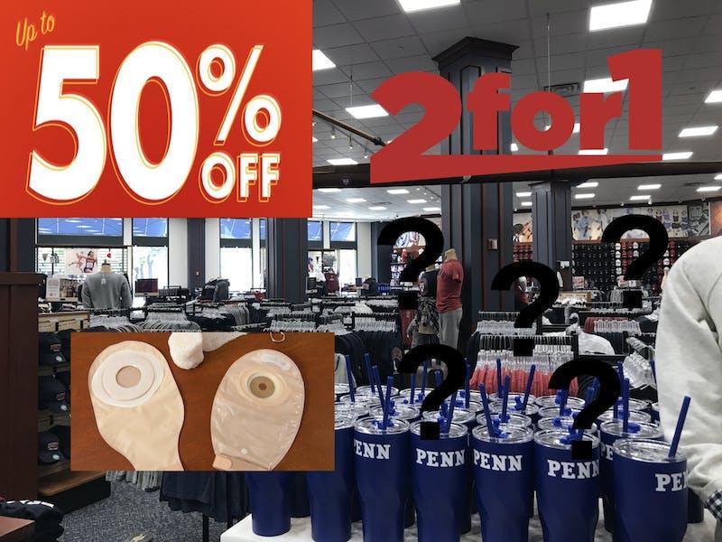 Branding Shift! New Penn Bookstore Promotion Advertises 2-For-1 Colostomy Bag Deal