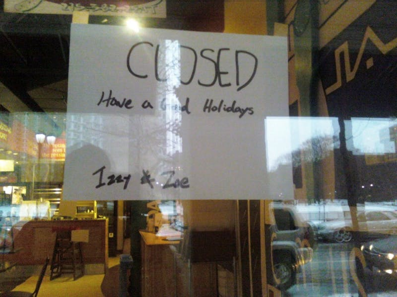 B-T-Dubs, Why Has Izzy And Zoe's Been Closed All Semester?