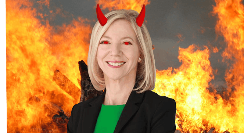 Amy Gutmann Spotted Maskless in Van Pelt Recharging Her Batteries