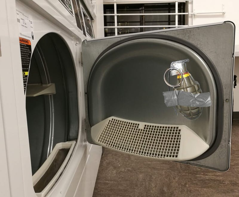 Freshman Booby-Traps Dryer to Protect His Laundry
