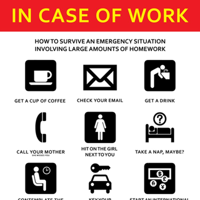 We Show You How: In Case Of Work