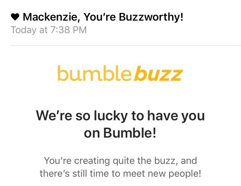 OP-ED: Yes, Bumble, I Am Buzzworthy, Now Tell That One Guy Who Hasn't Responded in 17 Days