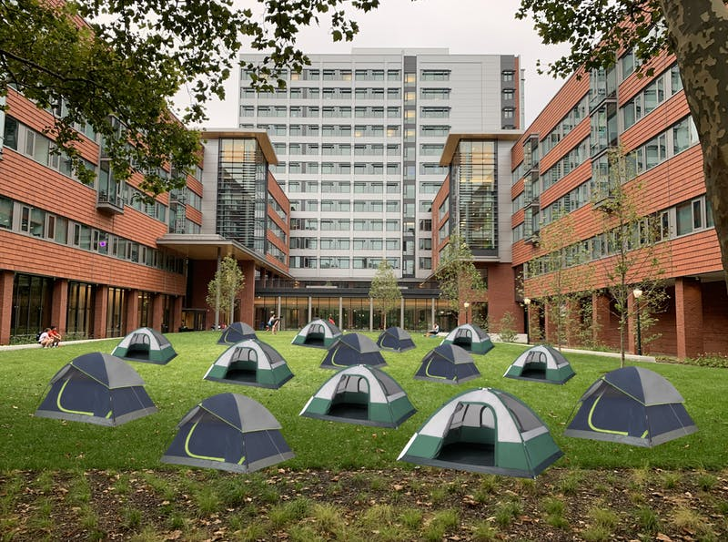 High Rise Residents Opt To Live In Tents On NCHW Grass
