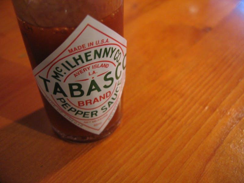Dinner Once Again Hinges on 5 Oz. Bottle of Tabasco