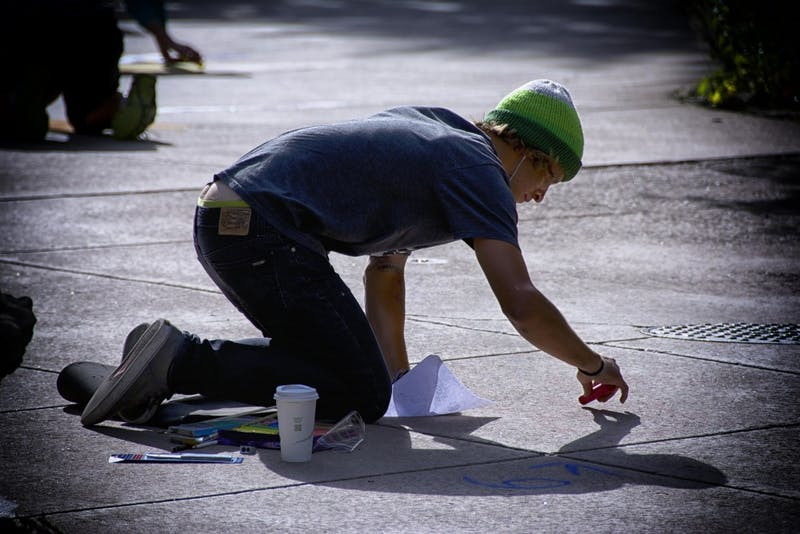 Exit Poll: UA Voters Care Most About Neat Sidewalk Chalk Handwriting