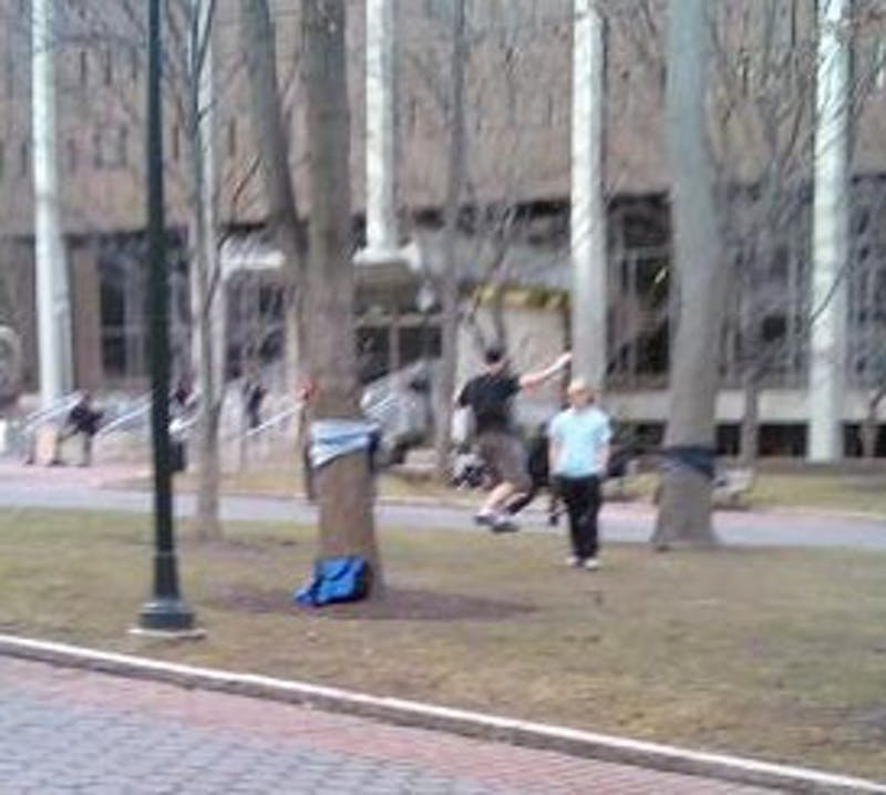 In Which We Imagine A Conversation Between The College Green Tightrope Dudes