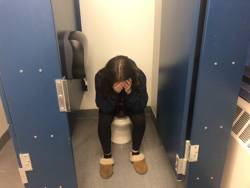 An Open Letter to the Person in the Stall Next to Me: Please Leave so I Can Shit, I Am Terrified