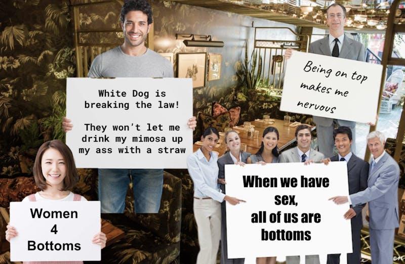 UPenn Bottoms Protest White Dog's Bottomless Brunch