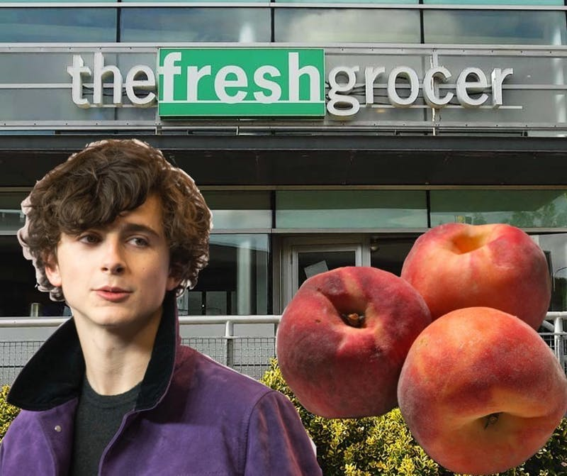 Oh No: Timothee Chalamet Spotted Loitering in the Peach Aisle of FroGro Again