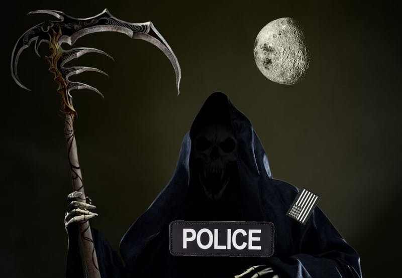 New Police Uniforms Include Scythe, Black Hood, and Cloak