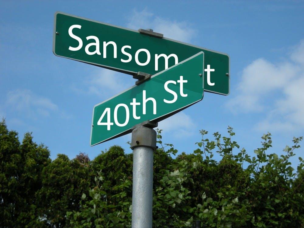 sansom_street_sign