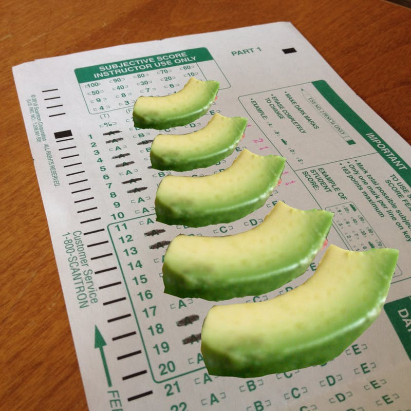 ​Crafty Student Puts Avocado on Scantron Sheet to Increase Test's Value