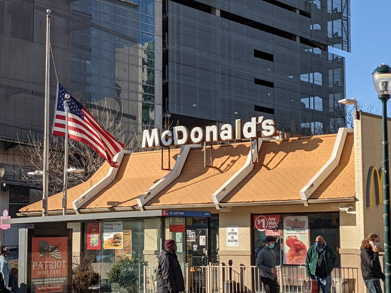 McDonald's Flag is Always at Half Mast Because They Don't Have Anyone Tall Enough To Put It at Full