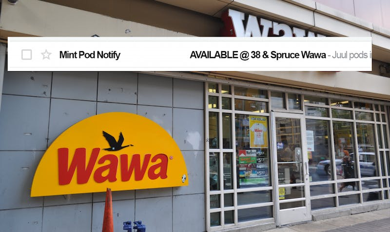 Junior Develops Penn Course Notify but for Mint Pods at Wawa