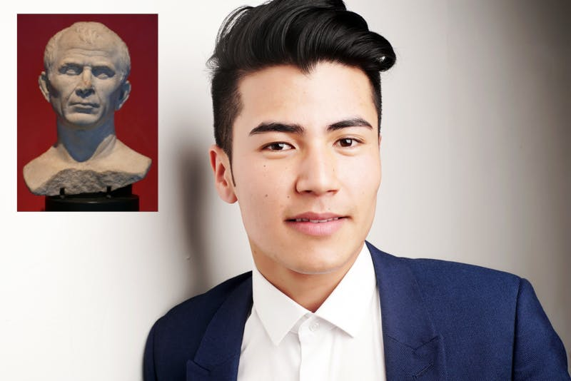 Humble God! Rich Student Finds Only Corner of House Not Lined With Greco-Roman Sculptures for Video Call