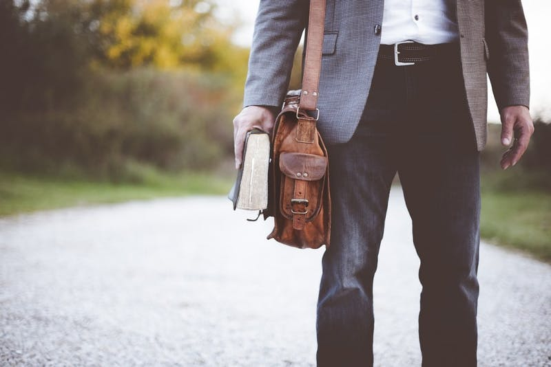 Wow! This Cool, Professional Summer Intern Wore a Satchel Instead of a Backpack!