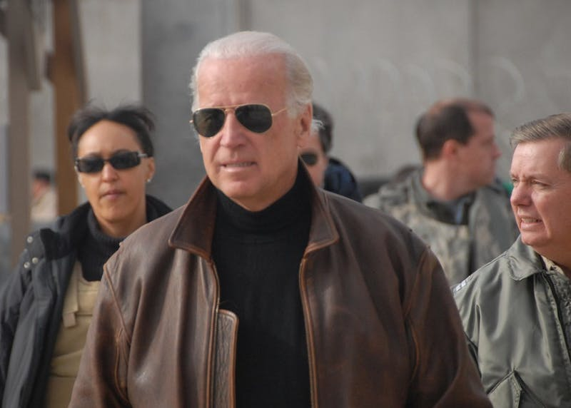 Biden, Stop Wearing Sunglasses We Know You Have Pink Eye