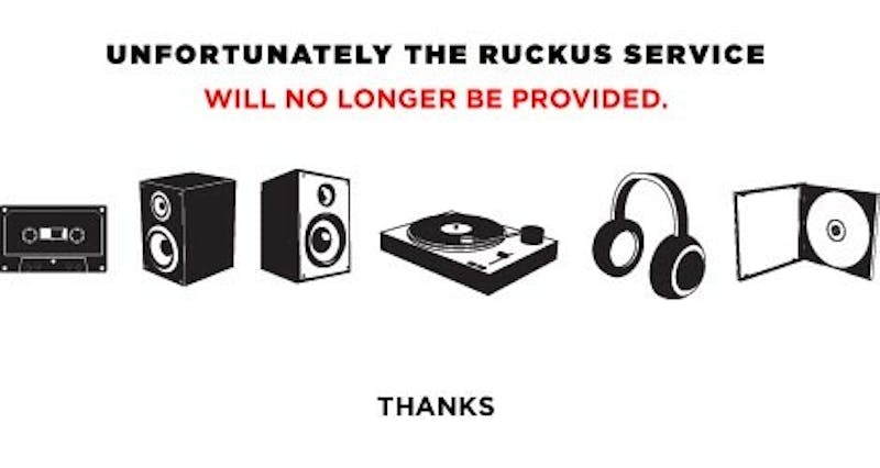 Where Oh Where Has Ruckus Gone?
