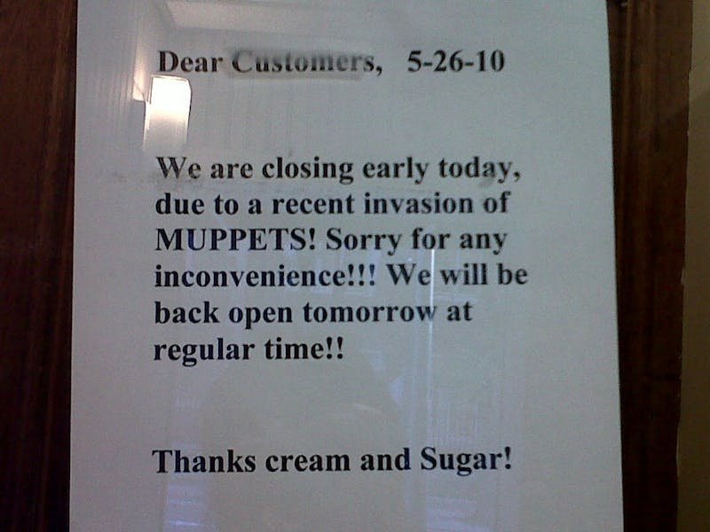 Cream And Sugar, It's Been Invaded By Muppets!