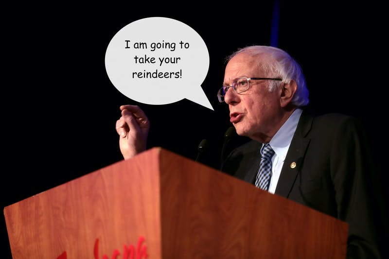 Voters Should Be Wary of Bernie Sanders: His Name Is an Anagram for 'Nabs Reindeers'