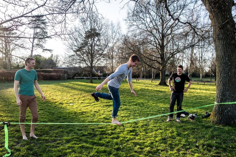 It's Slackline Season, Baby!