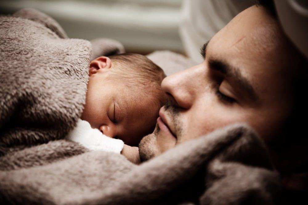 babyanddadsleeping