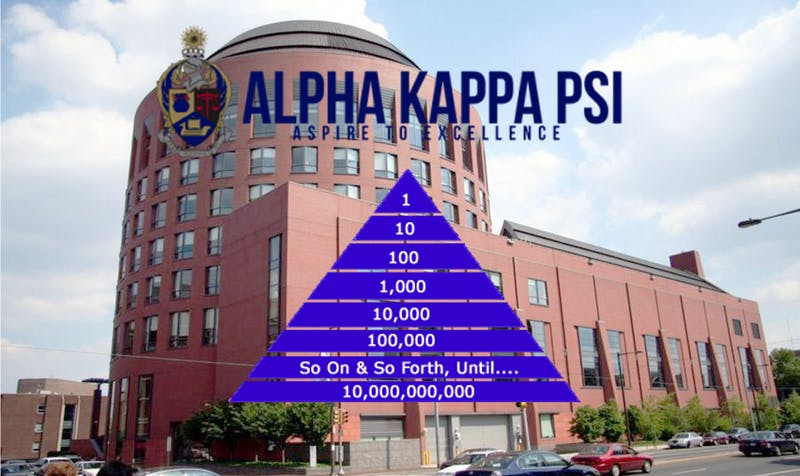 AKPsi Banned From Rush Due to Pyramid Scheme