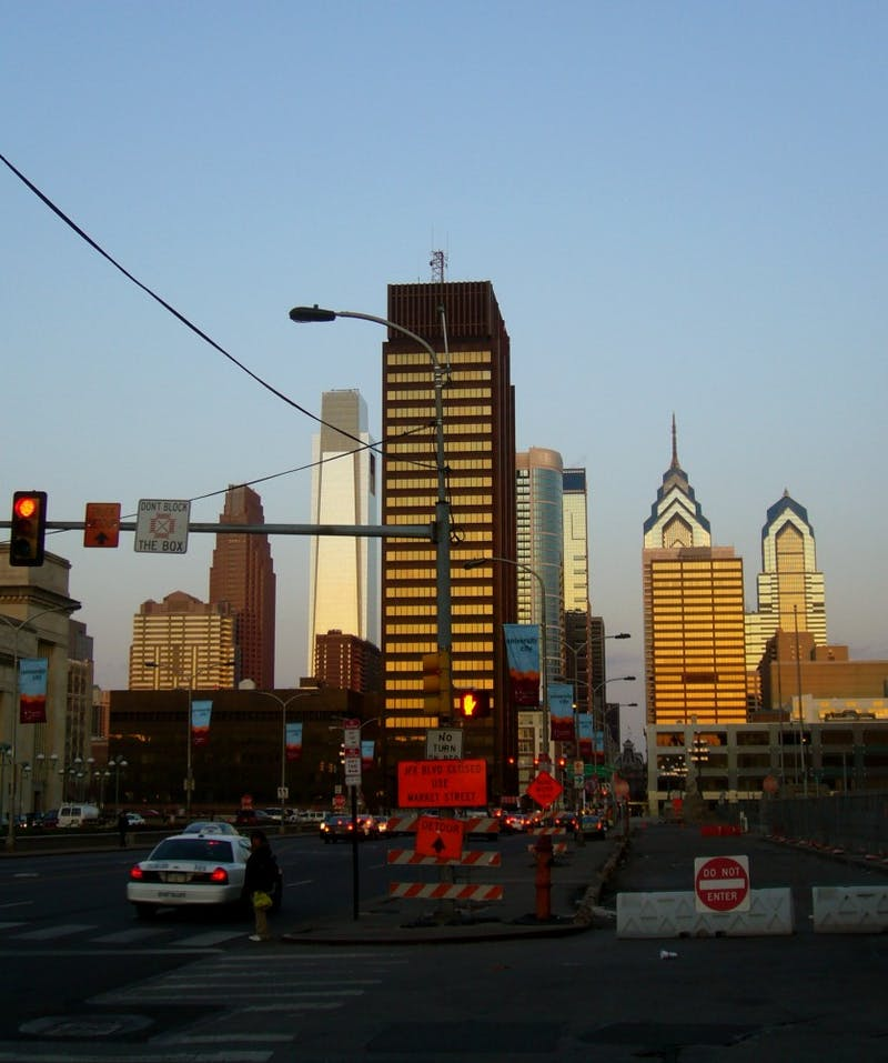 ShutterButton: Sunset Over Center City
