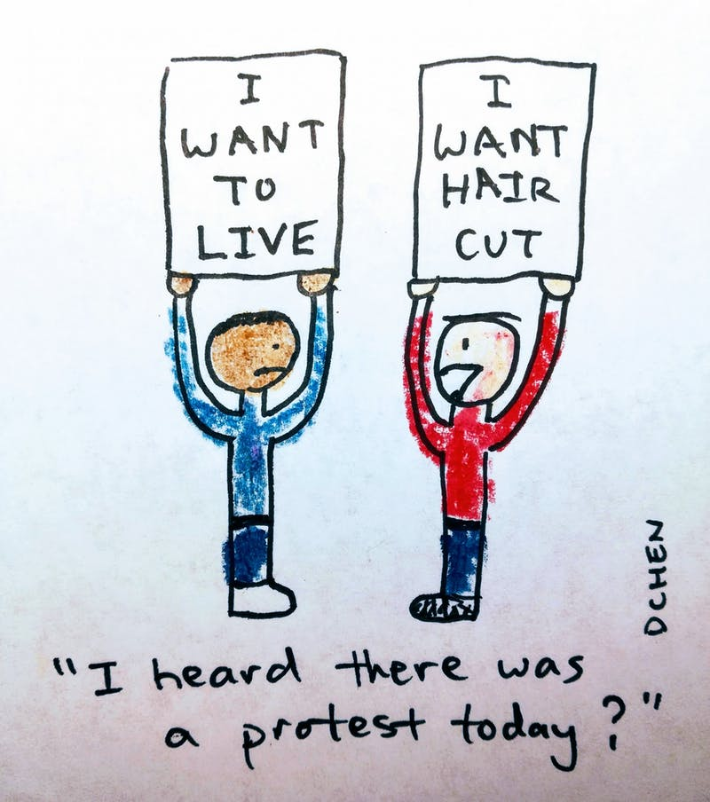 CARTOON: I Heard There Was a Protest Today